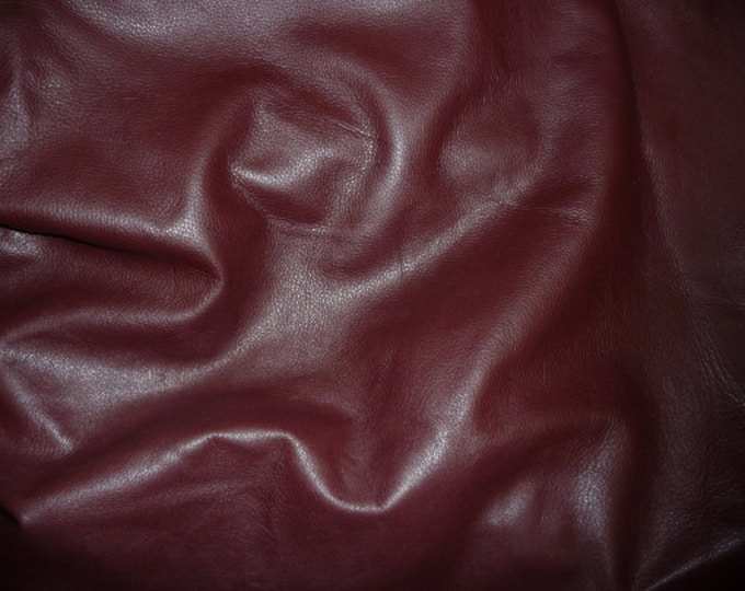 "Leather 20""x20"" King DARK MAROON  / Burgundy full Grain Cowhide 3 oz / 1.2mm PeggySueAlso™ E2881-19 Full hides available"