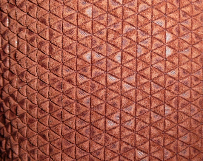 "Leather 8""x10"" Mini Triangles CINNAMON SPICE On Firm Italian Cowhide 3-3.25 oz / 1.2-1.3 mm PeggySueAlso™ E3172-02 hides available"