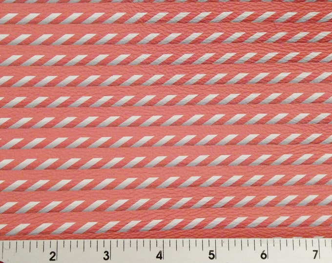 """Leather 12""""x12"""" SHUTTER Striped CORAL Cowhide 3-3.5 oz / 1.2-1.4 mm PeggySueAlso™ E3088-01 Trial"""