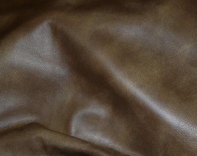 "Leather 12""x20"", 14""x17""++ Bomber King BAY BROWN Marbled SOFT Cowhide 3-3.25oz / 1.2-1.3mm PeggySueAlso™ E2882-05 Full"