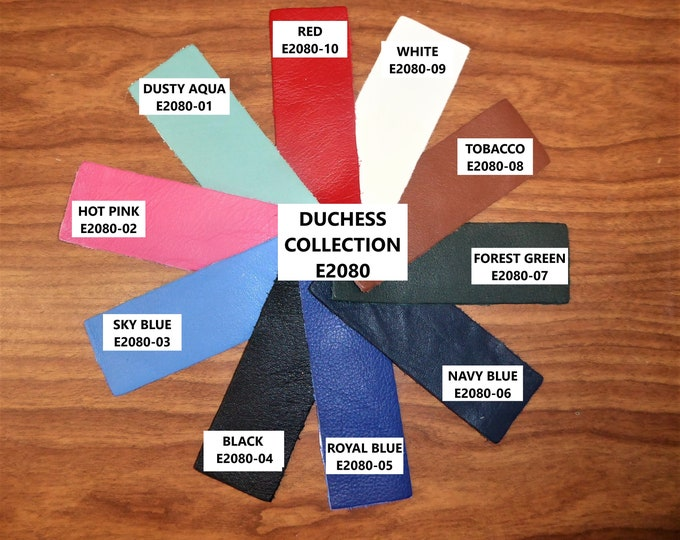 """Leather 12""""x20"""" 10""""x24""""  DUCHESS COLLECTION (a thinner KING) Cowhide 2.25-2.75 oz /0.9-1.1 mm PeggySueAlso™ E2080 hides available"""