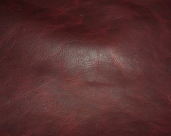 "Leather 12""x12"" PULL UP Distressed MERLOT Wine Cowhide 3-3.5 oz /1.2-1.4 mm PeggySueAlso™ E2930-06 hides available"