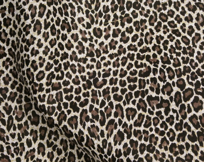 "ReSTOCKED Leather 8""x10"" BABY Chocolate Cheetah Print Cowhide (NOT hair on) 3 oz/ 1.2 mm PeggySueAlso™ E2545-01 hides available"