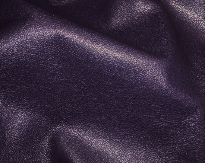 "Leather 8""x10"" DIVINE Dark Purple TOP grain soft  Cowhide 2-2.5oz / .8-1 mm PeggySueAlso™ E2885-20"