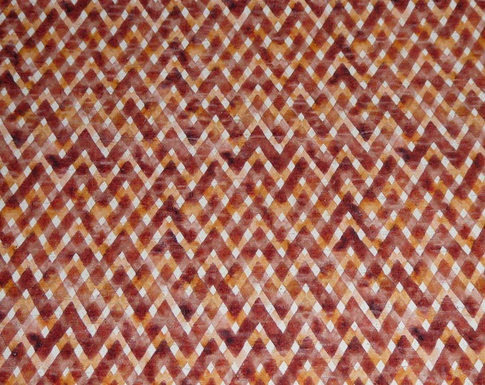 """NeW Cork 8""""x10"""" AUTUMN CINNAMON Rust GINGHAM Plaid Thick 5.5oz/2.2mm PeggySueAlso™ E5610-203 hides available"""