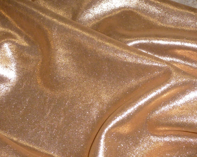 "Metallic Leather 12""x20"" ... Vintage Crackle ROSE GOLD / Copper on TOAST Cowhide 3.5 oz / 1.4 mm PeggySueAlso™ E2844-25"