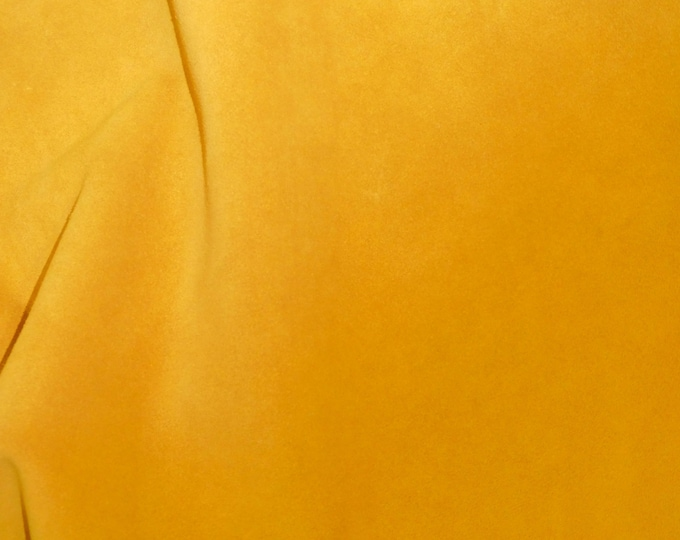 "Suede Leather 8""x10"" SUNFLOWER MUSTARD Garment Grade SUEDE Cowhide 3.5-3.75 oz / 1.2-1.3 mm PeggySueAlso™ E2827-03 hides too"