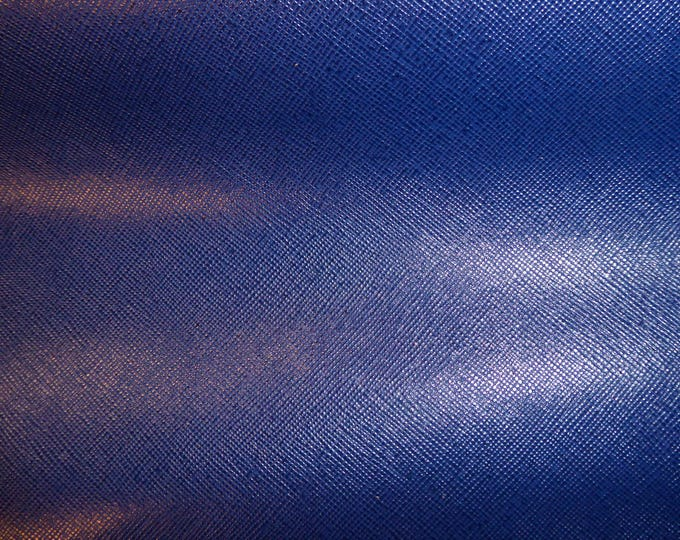 "Leather 8""x10"" Italian  NAVY Marine Blue Weave Embossed Cowhide 2.5-3oz/ 1-1.2mm PeggySueAlso™ E8201-03 hides available"