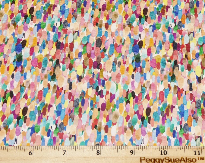 """Leather 8""""x10"""" MEXICAN CONFETTI Rainbow colored splashes cowhide 3-3.25oz /1.2-1.3 mm PeggySueAlso™ E1380-33"""