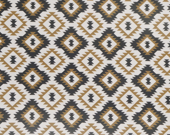 "Leather 12""x12"" DIAMOND AZTEC Coffee Brown & Black on White Smooth and FiRM (not soft) cowhide 3-3.25oz /1.2-1.3mm PeggySueAlso™ E1571-08"
