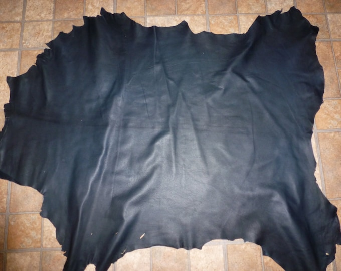 Leather 7-8 Sq ft GOATSKIN Very Dark Navy Blue Hide (not this hide, a very similar one) 2-2.5 oz / .08-1mm PeggySueAlso™ (AJ) E2786-04