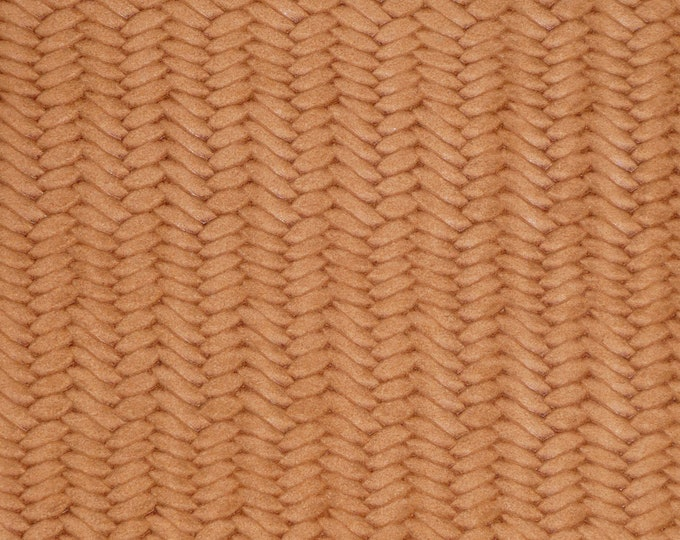 "Leather 12""x12"" Braided USA Fishtail RAW SIENNA Soft Cowhide 3 oz / 1.2 mm PeggySueAlso™ E3160-70 hides available"