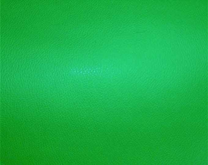 """Neon Leather 8""""x10"""" Pebbled LIME GREEN Neon soft Cowhide shows grain 2.75-3oz/1.1-1.2 mm PeggySueAlso™ E2530-01B full hides too"""