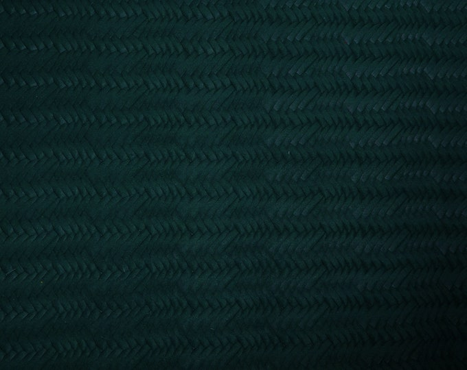 """Leather 5""""x11"""" Braided Fishtail FOREST Green  Cowhide 3-3.5 oz / 1.2-1.4 mm PeggySueAlso™ E3160-32 Hides available"""