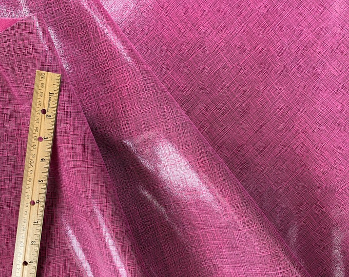 """Leather 8""""x10"""" Saffiano look TW0 TONE HOT PINK and Black Glitter Linen Weave Soft Cowhide 3-3.5 oz/1.2-1.4 mm PeggySueAlso™ E8201-38"""