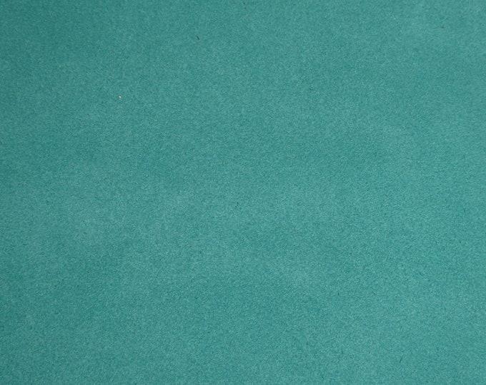 """Suede Leather 12""""x12"""" AQUAMARINE Garment Grade SUEDE Cowhide 3.5-3.75 oz / 1.2-1.3 mm PeggySueAlso™ E2828-11"""