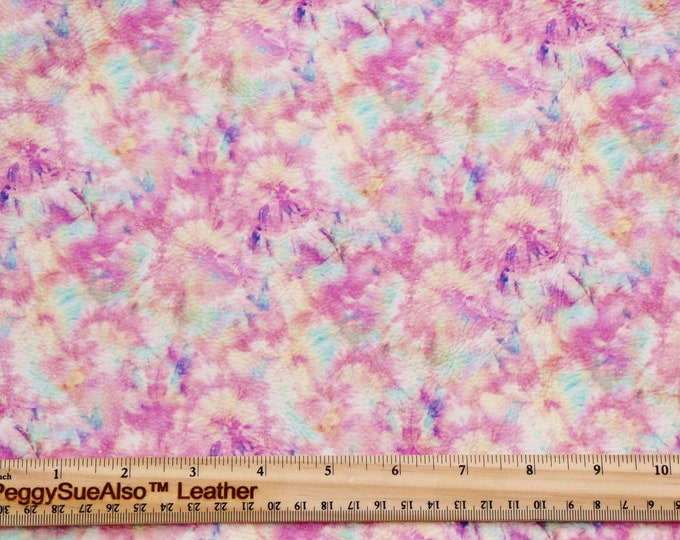 "Leather 8""x10"" Mandala PASTEL Tie Dye Kaleidoscope Cowhide 2.5-3 oz/1-1.2 mm PeggySueAlso™ E7150-06"