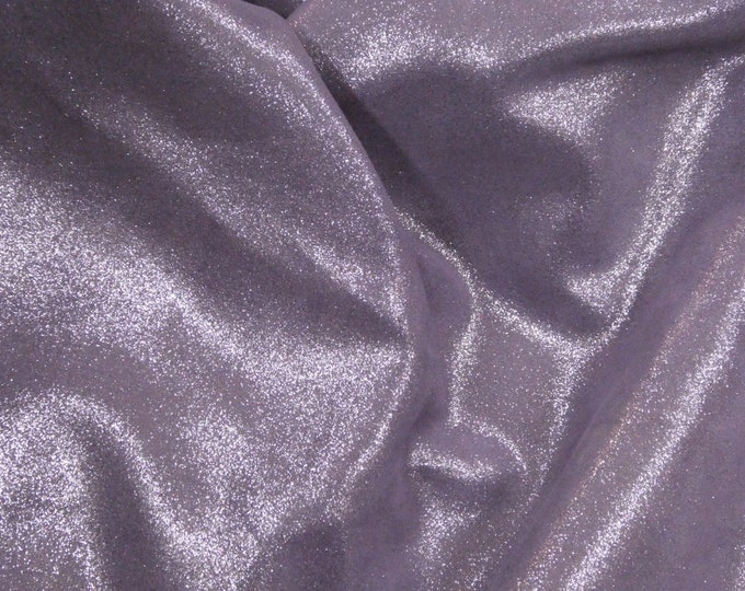 """Metallic Leather 8""""x10"""" Dazzle Silver on AMETHYST FROST Cowhide 2.5 oz / 1 mm PeggySueAlso™ E8300-06 hides available"""