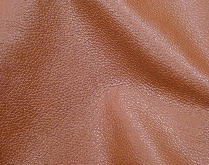 "Leather 12""x12"" Imperial CHESTNUT Brown Fully Finished Pebble Grain THICK but soft Italian Cowhide 3.75-4oz/1.5-1.6mm E3205-12"