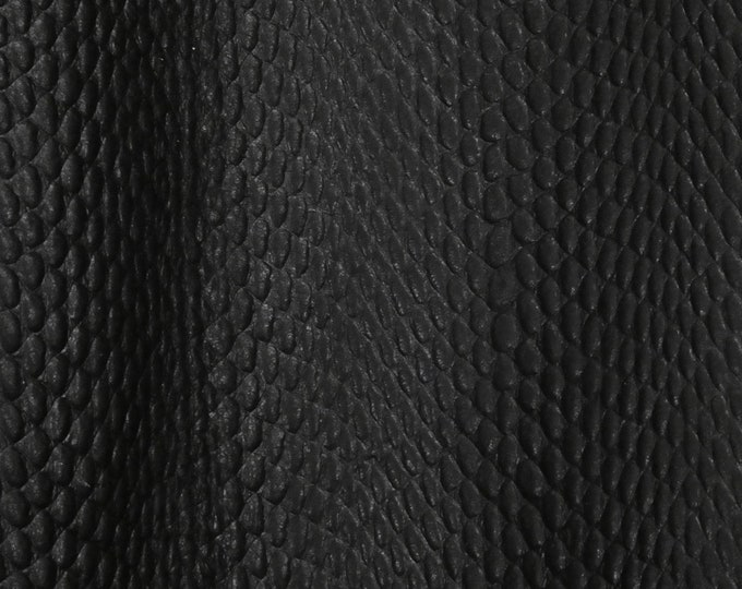 "Leather 12""x20"", 15""x15"", 14""x17"", 10""x24"" Amazon Cobra MATTE BLACK Cowhide 2.5-3 oz / 1-1.2 mm PeggySueAlso™ E2810-01A Full hides available"