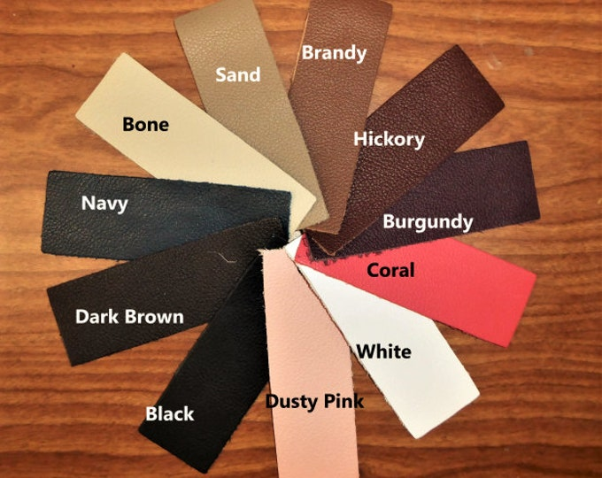 "Leather 12""x12"" BIKER collection Choose from our Cowhide Soft Top grain Your choice of color 3.5 oz / 1.4 mm PeggySueAlso™ E2879"