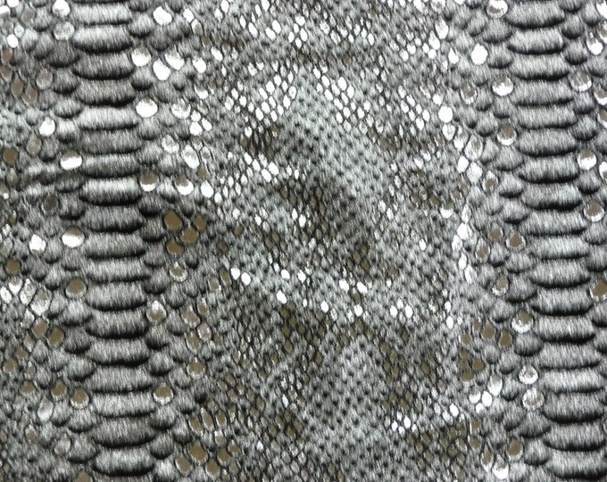 """Metallic Leather 12""""x20""""+ Mystic Python SILVER and BLACK glimmery Cowhide 2.5-3 oz / 1-1.2 mm PeggySueAlso™ E2868-01 hides available"""