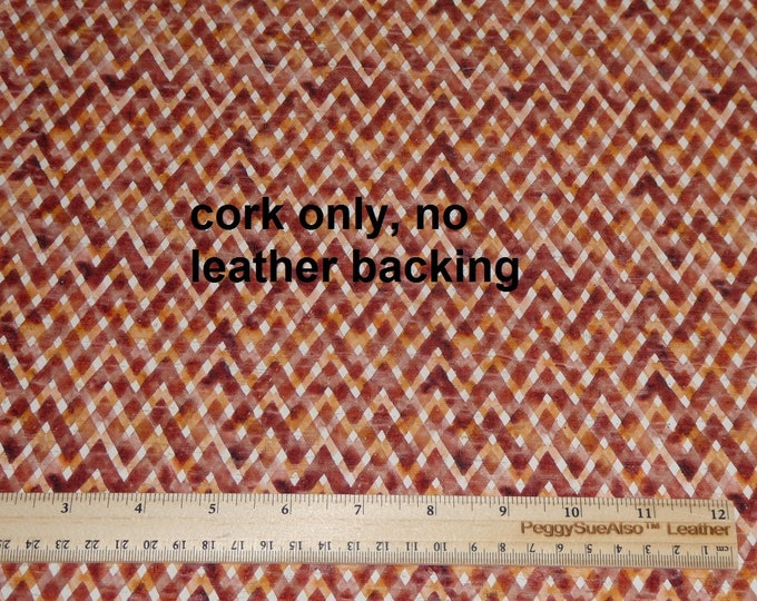 """ONLY CoRK 8""""x10"""" NO Leather Backing Autumn CINNAMON Rust Gingham Plaid Very Thin PeggySueAlso™ E5610-203C"""
