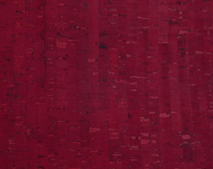"""Cork 5""""x11"""" Ox BLOOD / BLOOD RED Cork applied to Leather for body/strength Thick 5oz/2mm E5610-10B"""