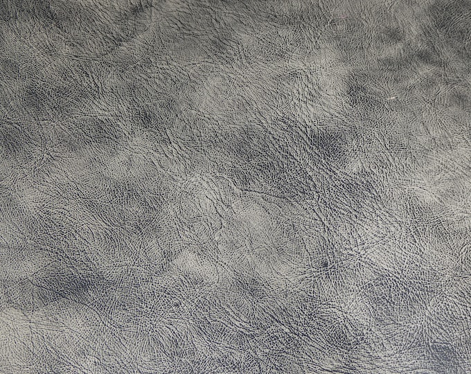 "NeW Dye Lot 8""x10"" Artisian Tie Dye CHARCOAL BLACK and TAN (lighter color) Distressed Leather 3-3.5 oz / 1.2-1.4 mm PeggySueAlso™ E2920-01"