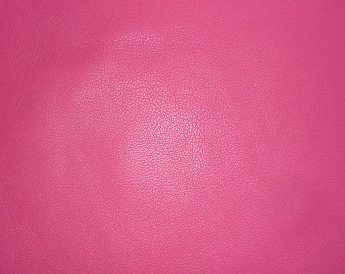 "Leather 12""x12"" Divine HOT PINK / Fuchsia Cowhide fine grained 2-2.5 oz / .8-1 mm Full hides available - PeggySueAlso™ E2885-34"