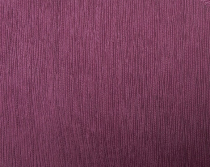 """Leather 12""""x12"""" Palm leaf MAROON / Burgundy Cowhide 3 oz / 1.2 mm PeggySueAlso™ E3171-11 hides available"""
