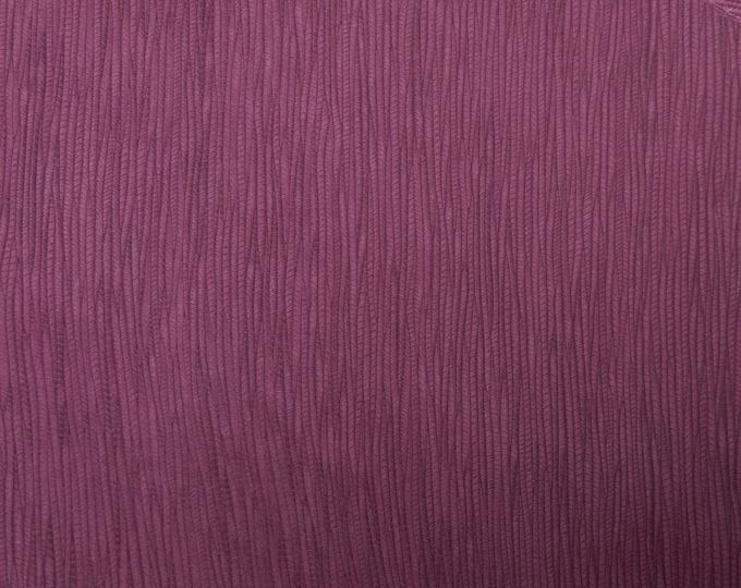 Leather 3 or 4 or 5 or 6 sq ft Palm leaf MAROON / Burgundy Cowhide 3 oz / 1.2 mm PeggySueAlso™ E3171-11 hides available
