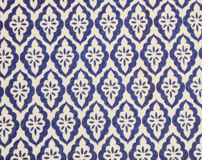 """NeW Leather 8""""x10"""" DIAMOND TURKISH TILES Blue and White, Leather version Cowhide 3-3.5 oz/1.2-1.4 mm PeggySueAlso™ E2580-01"""