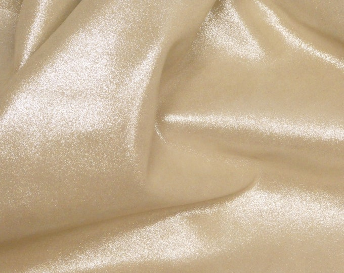 """Metallic Leather 8""""x10"""" Dazzle Silver on CHAMPAGNE Cowhide 2.5 oz / 1 mm PeggySueAlso™ E8300-23 hides available"""