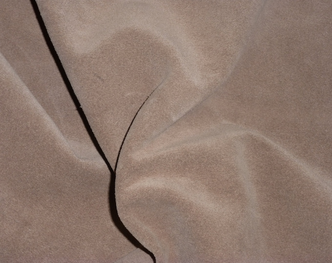 "Suede Leather 12""x12"" SANDY BROWN Suede Garment Grade 2-2.5 oz / 0.8-1 mm PeggySueAlso™  E2827-08 hides available"