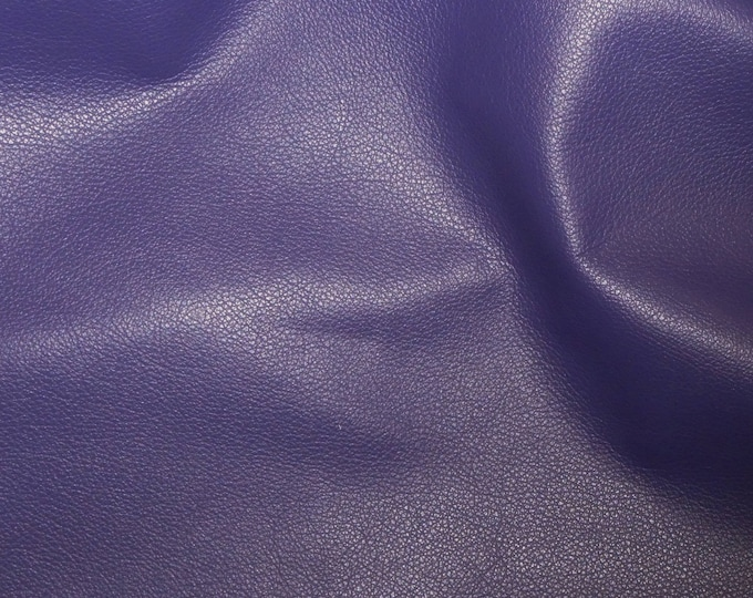 """Leather 12""""x12"""" Divine NEW PURPLE top grain soft Cowhide 2-2.5oz / .8-1mm PeggySueAlso™ E2885-07 Full hides available"""
