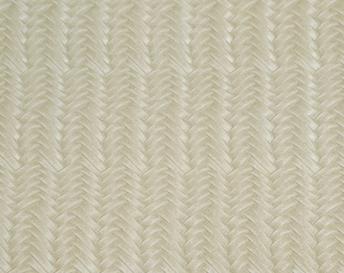"""Leather 12""""x12""""  Braided ITALIAN Fishtail CREAM Cowhide 2.5-3 oz / 1-1.2 mm PeggySueAlso™ E3160-06 hides available"""