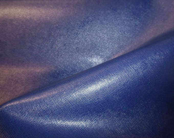 "Leather 12""x12"" Italian Saffiano NAVY Marine Blue Weave Embossed Cowhide 2.5-3oz/ 1-1.2mm PeggySueAlso™ E8201-03 hides available"