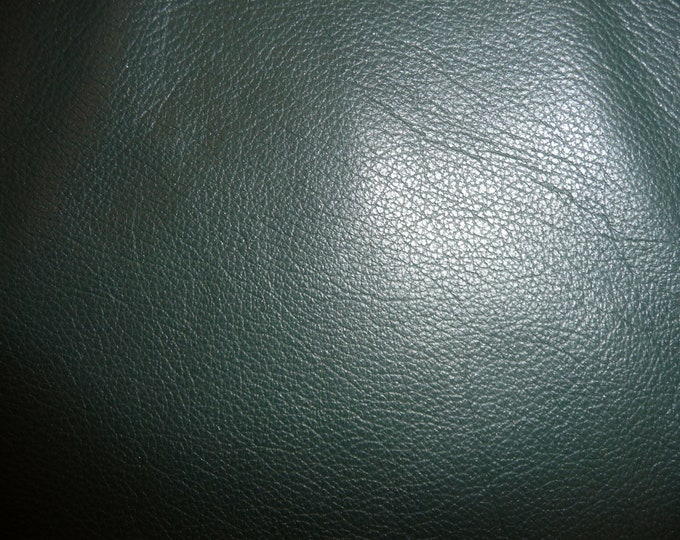 """Leather 12""""x12"""" DIVINE Forest Green Top Grain Cowhide 2-2.5 oz/.8-1 mm FULL hides available PeggySueAlso™ E2885-19 Full hides available"""