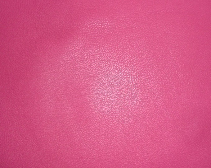 "Leather 8""x10"" Divine HOT PINK / Fuchsia Cowhide fine grained 2-2.5 oz / .8-1 mm Full hides available - PeggySueAlso™ E2885-34"
