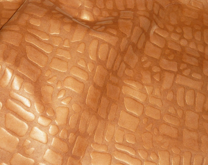 """Leather 8""""x10"""" Giraffe Pearlized GOLDEN TOPAZ embossed Cowhide  2-2.5 oz / .8-1mm PeggySueAlso™ E2095-05 Limited"""