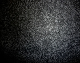"""Leather 8""""x10"""" King BLACK Pebbly Grain buttery Soft Full grain Cowhide 3-3.25oz / 1.2-1.3mm PeggySueAlso™ E2881-07 Full Hides Available"""