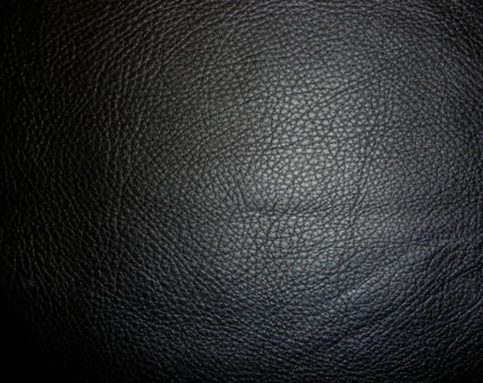 "Leather 8""x10"" King BLACK Pebbly Grain buttery Soft Full grain Cowhide 3-3.25oz / 1.2-1.3mm PeggySueAlso™ E2881-07 Full Hides Available"