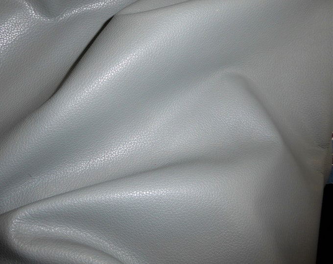 "Leather 20""x20"" Divine LIGHT GRAY Top Grain Cowhide 2.5 oz /1 mm PeggySueAlso™ E2885-08 Full hides available"