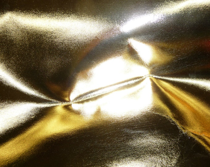 "Metallic Leather 8""x10"" smooth GOLD Foil Cowhide 2.5-3 oz / 1-1.2 mm PeggySueAlso™ E2845-15 Full hides available"