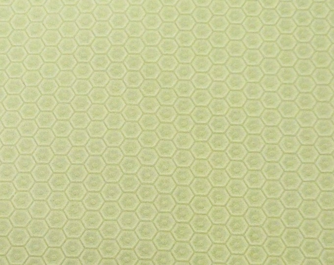 "NeW Leather 12""x12"" Light APPLE MINT Green HONEYCOMB Cowhide 3 oz / 1.2 mm PeggySueAlso™ E3173-04 hides available"