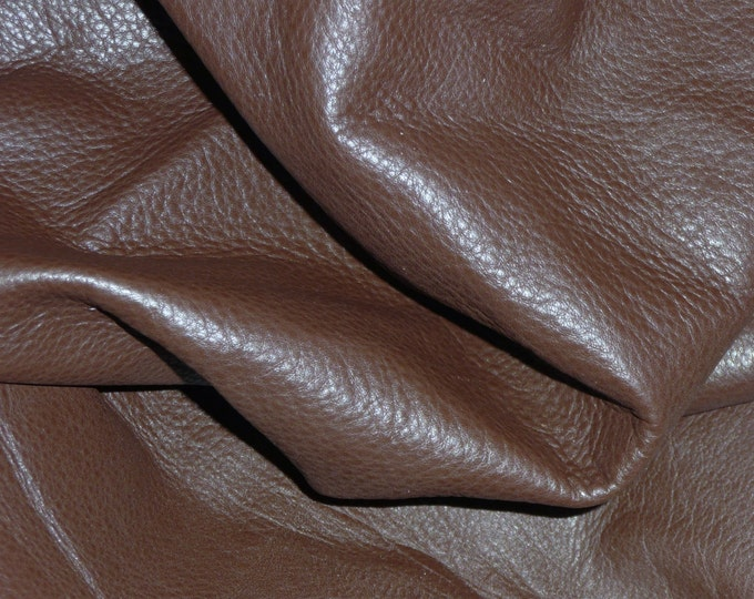 """Leather 12""""x12"""" King CHOCOLATE BROWN Full Grain Cowhide 3-3.5oz/1.2-1.4 mm PeggySueAlso™ E2881-08 Full Hides Available"""