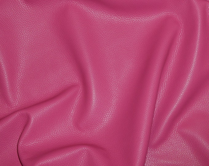 Leather 3 to 6 sq ft Imperial FUCHSIA Hot PINK Fully Finished Pebble Grain Thick Italian Cowhide 3.5-4 oz/1.4-1.6 mm PeggySueAlso™ E3205-01