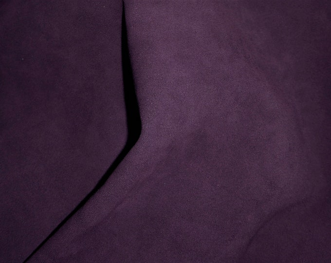 New Dye Lot Suede Leather 3-4-5 or 6 sq ft DARK PURPLE Garment Grade Cowhide 3.25 oz / 1.4 mm PeggySueAlso™ E2825-09 hides available
