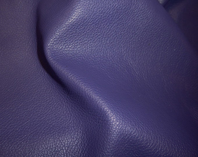 """Leather 20""""x20"""" Divine NEW PURPLE soft top grain Cowhide (SHlPS ROLLED) 2-2.5oz / .8-1 mm PeggySueAlso™ E2885-07 Full hides available"""